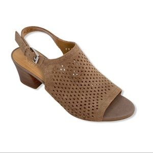 Franco Sarto Mandi open toe slingback low heel